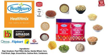 Healthsure Multi Millet Health Mix ingredients